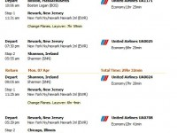 United Airlines flight from Boston to Shannon from $599