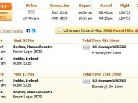 US Airways flight from Boston to Dublin from $537