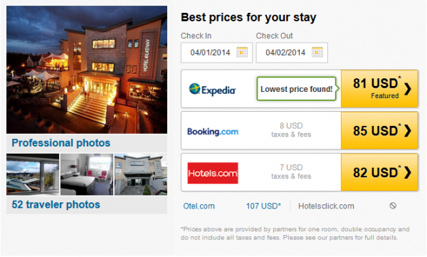Hotel Kilkenny - prices by partners