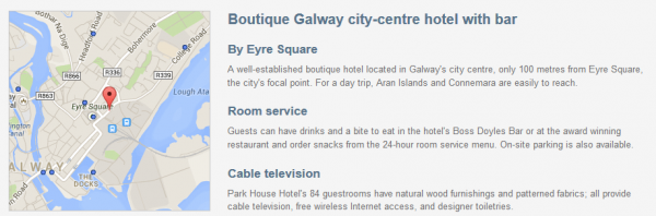 Park House Hotel in Galway - description