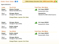 Business class flight from Atlanta to Dublin on sale