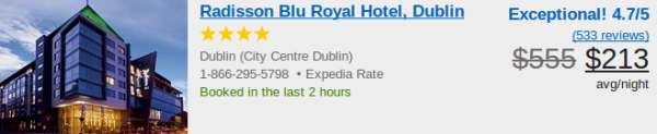 Radisson Blu Royal Hotel - deal details