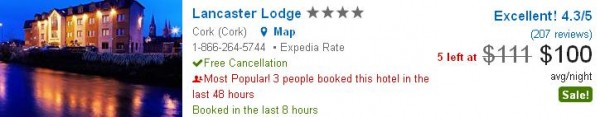 Lancaster Lodge - hotel deal