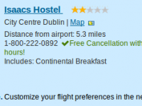 Dublin city break at Isaacs Hostel for $654 per person